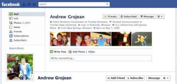 andrew grojean Facebook Timeline Cover: 40 (Really) Creative Examples