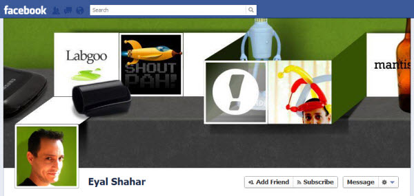 eyal shahar Facebook Timeline Cover: 40 (Really) Creative Examples