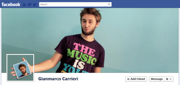 gianmarco carrieri Facebook Timeline Cover: 40 (Really) Creative Examples
