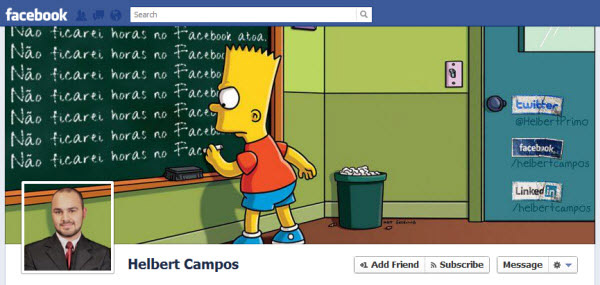 helbert campos Facebook Timeline Cover: 40 (Really) Creative Examples