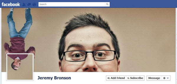 jeremy bronson Facebook Timeline Cover: 40 (Really) Creative Examples