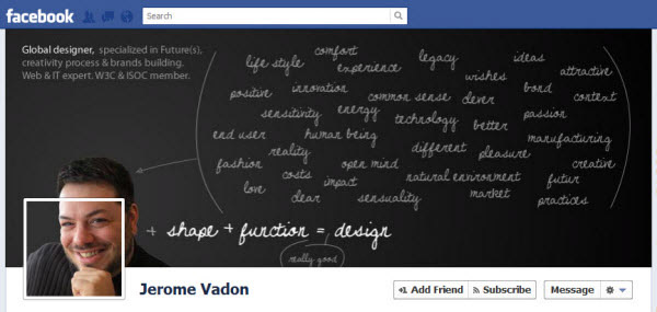 jerome vadon Facebook Timeline Cover: 40 (Really) Creative Examples