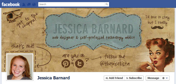 jessica barnard Facebook Timeline Cover: 40 (Really) Creative Examples