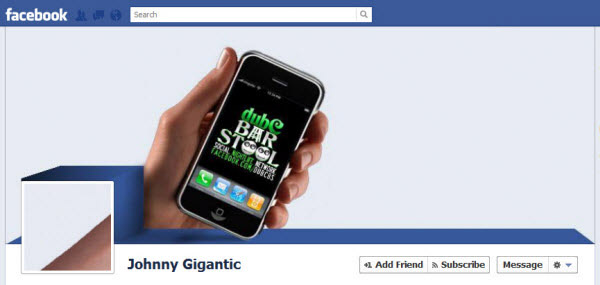 johnny gigantic Facebook Timeline Cover: 40 (Really) Creative Examples