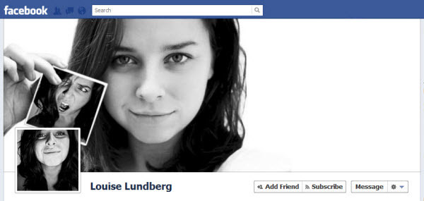 louise lundberg Facebook Timeline Cover: 40 (Really) Creative Examples
