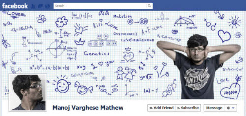 manoj varghese mathew Facebook Timeline Cover: 40 (Really) Creative Examples