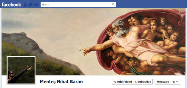 mentes nihat baran Facebook Timeline Cover: 40 (Really) Creative Examples