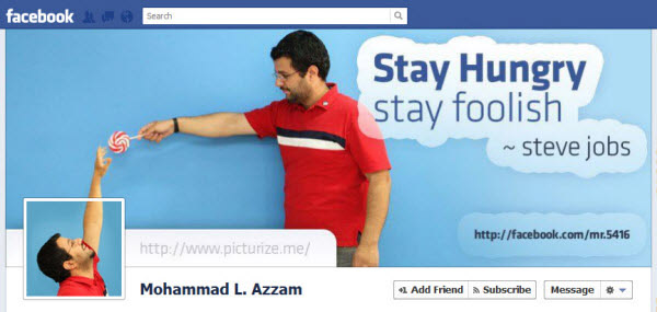 mohammad l azzam Facebook Timeline Cover: 40 (Really) Creative Examples