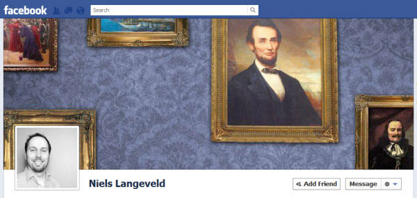 niels langeveld Facebook Timeline Cover: 40 (Really) Creative Examples