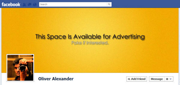 oliver alexander Facebook Timeline Cover: 40 (Really) Creative Examples