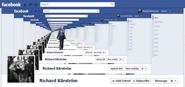 richard karstrom Facebook Timeline Cover: 40 (Really) Creative Examples